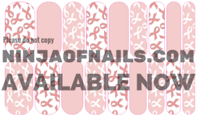 #awareness, #NAS, #nailartstudio, nail art studio, custom nail wrap, original nail wrap design, breast cancer awareness, charity, donation, proceeds, pink, white, ribbon