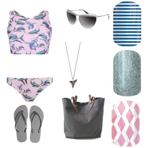#NavySkinnyJN, #BarelyBlueJN,#RoseColoredGlassesJN, #SharkWeek2015, #beach, #bikini, #summer