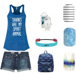 #CountryClubJN, #SplishSplashJN, #BrightNoiseJN, #SharkWeek2015, #Polyvore, #ninjaofnails, #nails, #nailwraps