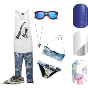 #StargazingJN, #MirrorMirrorJN,  #SweetSplashJN., #SharkWeek2015, #beach, #sunglasses, #nails, #nailwraps