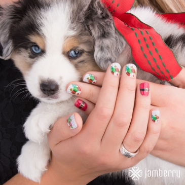 #SeasonBrightJN, #SantaSuitJN, Season Bright, Santa Suit, Christmas, Holiday, Jamberry, Nail wraps, Stocking Stuffers